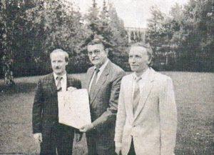 Jugendleiter G. Schermack, Kreisvorsitzender A. Kappes und H.W. Fischer